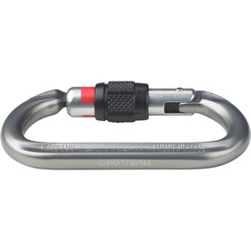 AustriAlpin Ovalo GI Screwgate Carabiner with Visual Safety Band anthracite anodized